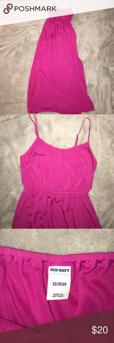Fuschia Maxi-Dress Perfect condition. Worn once. Size extra small. Slip built in . Slots down sides from knee area down. Best offer! Old Navy Dresses Maxi