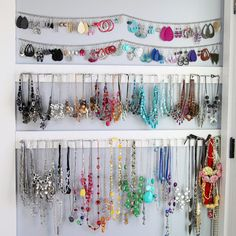 Simple Jewelry Organization - Sugar Bee Crafts