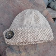 Button hat #knitting #hat