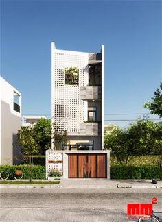 House Architecture Styles, Brick Architecture, Residential Architecture, Modern Townhouse, Townhouse Designs, Minimalist House Design, Small House Design, Modern Exterior House Designs, Narrow House