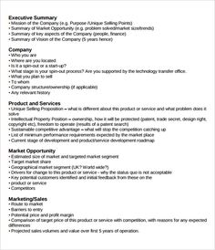 Executive Summary Example  It Executive Summary Template