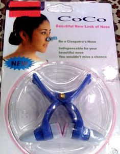 "Nose Clips (""Be a Cleopatra's Nose""): The Crazier Side of Asian Beauty - Of Faces and Fingers. More torture for beauty."