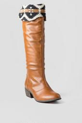 These are the perfect boots for Fall's cool weather. It's sleek, and totally unique b/c of the aztec print chenille fold over. Pair these with the Brunswick Heathered leggings and the Anabelle printed blouse for the perfect Fall transition outfit. I would wear this to school or to a coffee date! So chic, but so effortless.