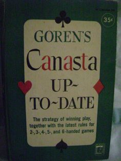 Goren's Canasta Up-To-Date, 1950 Perma P71 Hardcover Card Games American