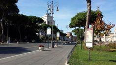 PRIMAVERA planters in #Roma, via dei fori Imperiali, Piazza Venezia, Colosseo #Bellitalia #marble street furniture - arredo urbano - mobiliario urbano - mobilier urbain