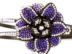 Bling Bling! Flower Headband with Bright Purple & Clear Rhinestones. Perfect for Women, Teens & Girls, Bling Bling Hair Accessory. Perfect for Christmas Stocking Stuffer, Church, First Communion, Easter, Graduation, Sunday Dress, Christening or Birthday. by Hail Mary Gifts, http://www.amazon.com/dp/B007CMGA4O/ref=cm_sw_r_pi_dp_fXuTqb0C1HGFN