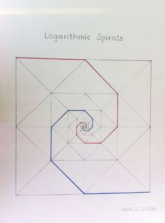 Logarithmic spiral geometry study from City School student.