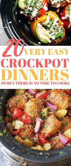 20 Crockpot Dinners