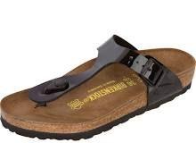 Women's Birkenstock Gizeh Birko-Flor T-Strap Sandal Black Size 42