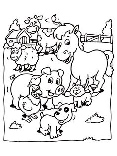 Farm Animal Coloring Pages For Preschoolers from Animal Coloring Pages category. Printable coloring pictures for kids you could print and color. Have a look at our selection and print out the coloring pictures free of charge. Chicken Coloring Pages, Coloring Pages Winter, Kindergarten Coloring Pages, Farm Animal Coloring Pages, Coloring Pages To Print, Coloring Book Pages, Coloring Pages For Kids, Coloring Sheets, Drawing Lessons For Kids