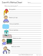 scientific method worksheets to use with science experiments