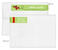 Red Airplane Wrap Around Address Labels