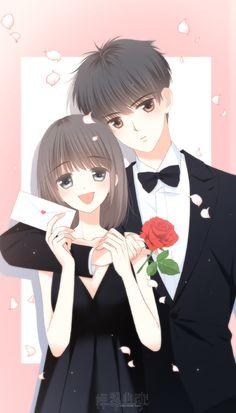Love Never Fails Manga Anime Couples Drawings, Anime Couples Manga, Cute Anime Couples, Anime Cupples, Kawaii Anime, Anime Chibi, Cute Chibi Couple, Cute Couple Art, Manga Couple