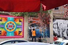 "Proyecto ""Muros"".#ArteTabacalera Promoción del Arte #ArteUrbano #StreetArt Madrid Día8. #Arterecord 2014 https://twitter.com/arterecord"
