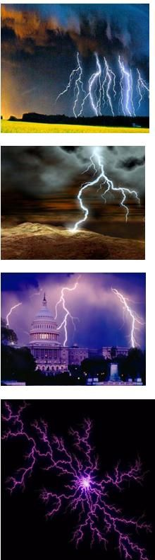 These are a series of spectacular lightning occurrences!