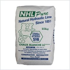 Saint Astier Natural Hydraulic Lime. Available in a range of strengths. This lime is renowned for having a very vibrant white colour.