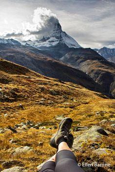 Kickin' back in KEENS in the shadow of the Matterhorn.