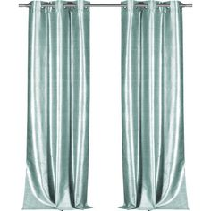 Bloomsbury Market Calumet Solid Semi-Sheer Grommet Single Curtain Panel Color: Aqua Blue