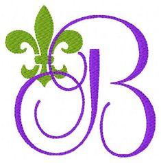 INSTANT DOWNLOAD Fleur De Lis Machine Embroidery Monogram Font Design Set on Etsy, $16.50