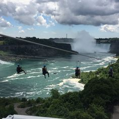 Zip Line over Niagara Falls!