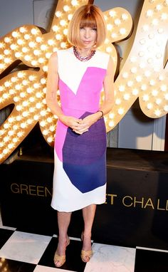 Anna Wintour at Stella McCartney's Green Carpet Collection // #LFW #SS15