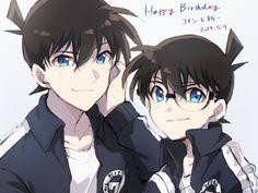 Ran And Shinichi, Kudo Shinichi, Anime Guys, All Anime, Manga Anime, Magic Kaito, Detective, Amuro Tooru, Japanese Illustration