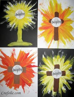 Teaching straight line painting and the True Presence of Jesus!   Catholic Inspired