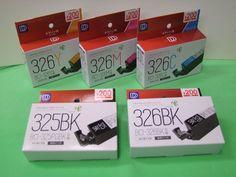 ダイソー キヤノン用BCI-325PGBK、326BK,C,M,Yリサイクルインクカートリッジ販売中!  対応機種: PIXUS MG8230 / MG8130 / MG6230 / MG6130/ MG5330 / MG5230 / MG5130 / iP4930 / iP4830 / MX883 / MX893 / iX6530   #インクダイソー #ダイソー325 #326インク #キヤノン