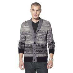 Mossimo Black® Men's Cardigan Sweater - Gray