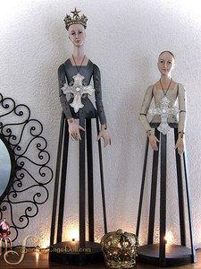 """27"""" Cream and 31"""" Gray Santos DUO by Santos Cage Doll"""