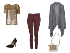 6 Cute Date Outfit Ideas For When It's Freezing Cold Outside: Colored Jeans and Sequins