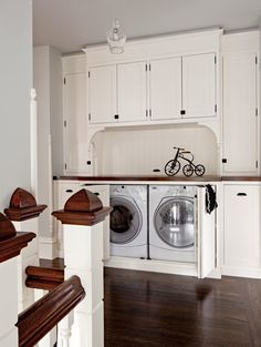Beautifully Designed Hidden Washer And Dryer Always Thinking Of A Way To Get Them Bad