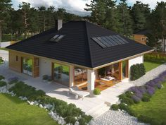 DOM.PL™ - Projekt domu AC Liv 3 CE - DOM AF2-79 - gotowy projekt domu
