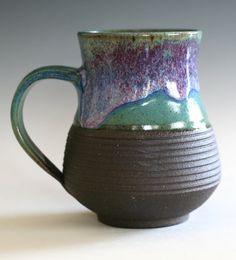Large Coffee Mug 17 oz handmade ceramic cup tea cup by ocpottery, $25.00