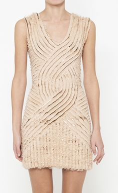 Roberto Cavalli Nude And Copper Dress | VAUNTE