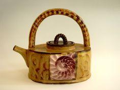 Liz Vigoda...nautilus teapot with fired decal
