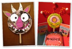Make your own monster mask. Fun with #monsterstories for #Halloween!