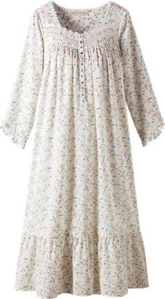 a97b0dbd5a Eileen West pacific day dream gown provides cooling comfort. This floral  print lightweight nightgown is