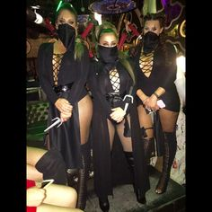 Women Ninja Halloween Costumes ! cute! DIY ADULT Women Group of 3. Matching costumes