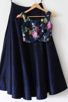 i love the blue color! floral blouse is simple and chic