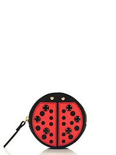 this crystal-studded ladybug is the perfect place to stash your spare change; it's guaranteed to make you smile even when you're doing something as mundane as feeding a parking meter.