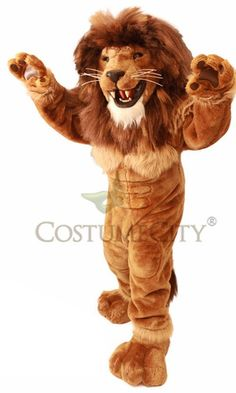 Friendly Lion Mascot Costume Adult Size Prop Halloween Character | eBay