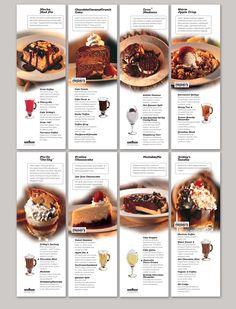 An effective restaurant menu blends a well-planned layout, well-written descriptions and appropriate prices for food cost ration. Menu Restaurant, Bakery Menu, Menu Board Design, Cafe Menu Design, Food Graphic Design, Food Menu Design, Design Design, Design Ideas, Cafeteria Menu