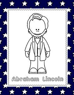 Abraham Lincoln (NO PREP) pages for PreK-1st Grade from 1 2 3 Creations by L Ackert on TeachersNotebook.com - (6 pages) - No need to laminate, prep or use any color ink...just PRINT and GO!