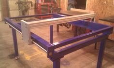 Frame and bridge for the 4 x 5 CNC plasma table