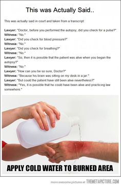 Lawyer vs. Doctor BURN… hahahaha