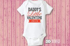 Daddy's Little Valentine Onesie