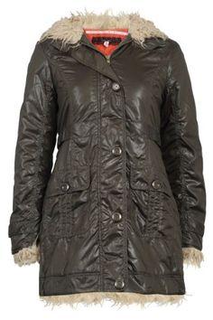 65R Womens Faux Fur Trim Ladies Hooded Long Sleeve Winter Coat Jacket My1stwish. $56.95