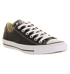 922fd0e36477 Converse All Star Low Leather Black White Leather - Unisex Sports