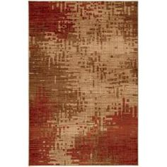 @Overstock - This abstract area rug features a sleek Inferno design in red with secondary colors of beige and brown. This rug is machine-made in the United States of durable, stain-resistant olefin yarn.http://www.overstock.com/Home-Garden/Inferno-Red-and-Beige-Rug-8-x-11/5981351/product.html?CID=214117 $266.04